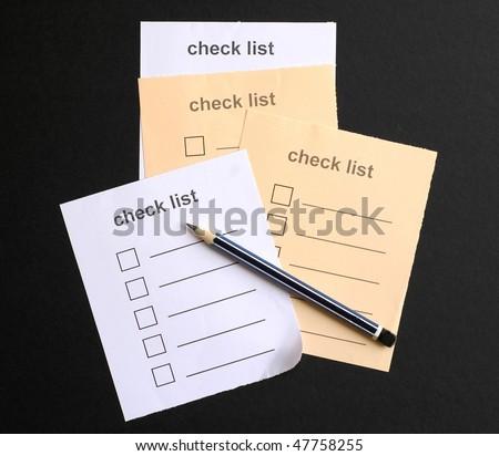 Check List Sheet