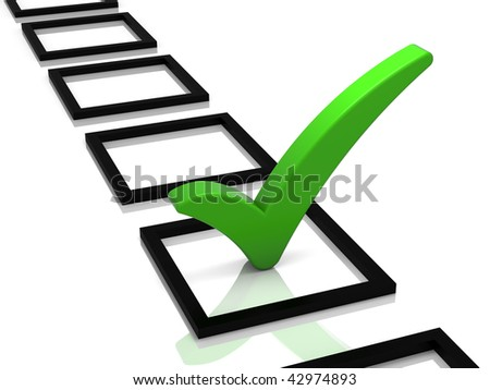 check mark clip art. stock photo : Check list with