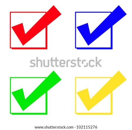 check mark and check box