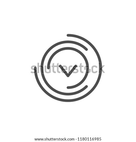 Check mark icon isolated on white