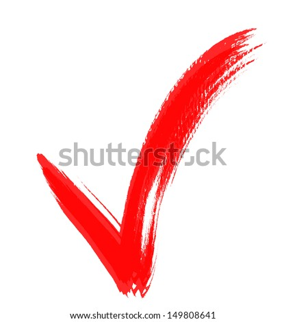 Check Marks painted with a brush, isolated on white