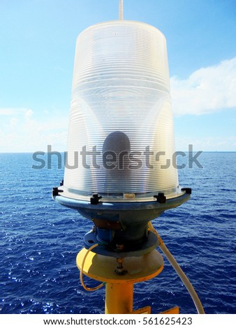 Check navigation lights bulbs on the oil & gas offshore