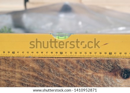Check with spirit level. Spirit level close-up #1410952871