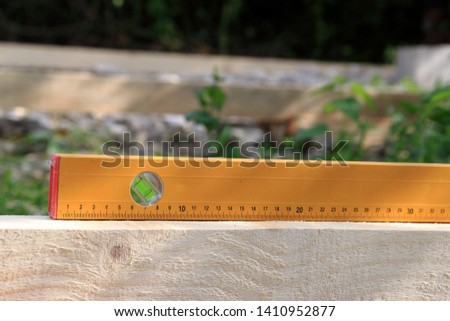 Check with spirit level. Spirit level close-up #1410952877