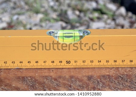Check with spirit level. Spirit level close-up #1410952880