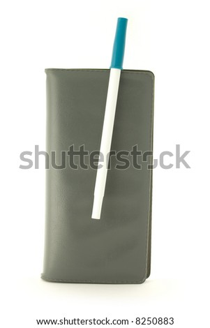 Checkbook and pen. - stock photo