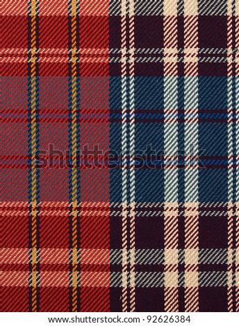 checked blue red fabric texture