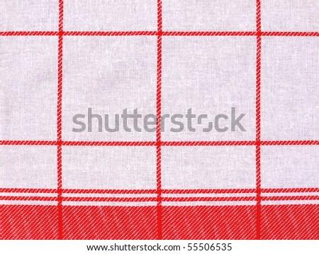 Checkered cloth - stock photo