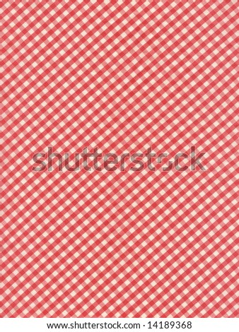 Checkered fabric closeup - series - red. Good for background. More fabrics in my port. - stock photo