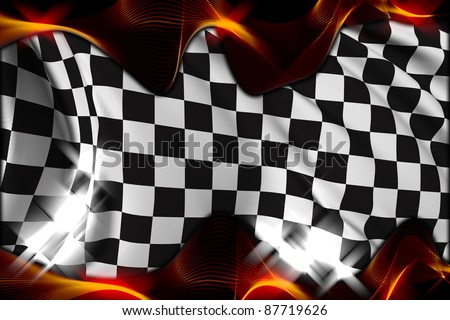 Checkered flag Race flag