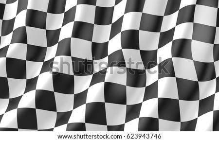 Checkered flag Race flag, 3d illustration