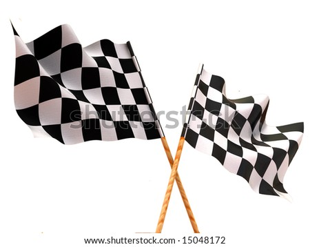 Checkered flags. 3d