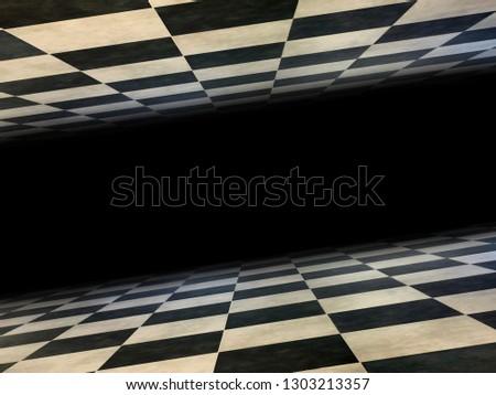 Checkered infinite room background texture. #1303213357