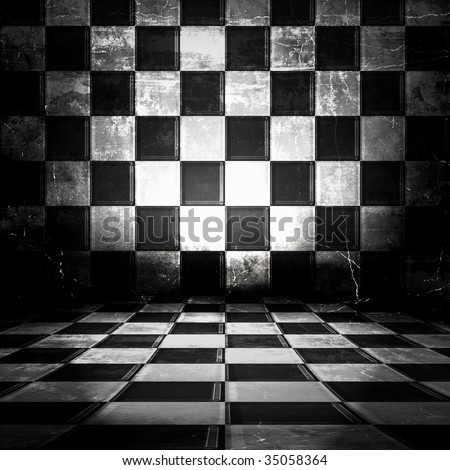 Checkered Old Room #35058364