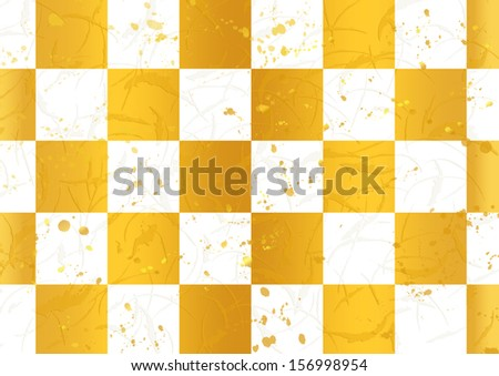 Checkered pattern of golden Japanese tradition