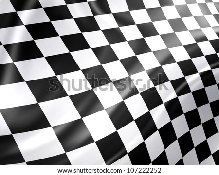 Checkered racing flag - high detailed background - stock photo