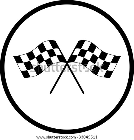 Checkered Flag Street Racing Carsseries Vector Imagesready
