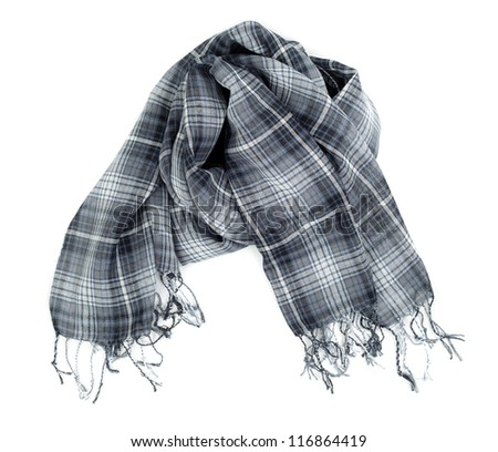 Checkered scarf it is isolated on a white background