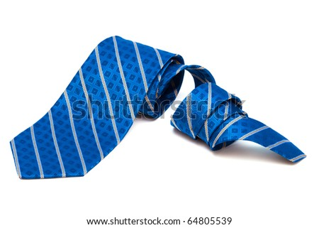 checkered tie close up on white background