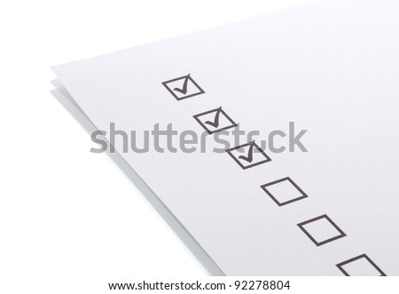Checklist isolated on white