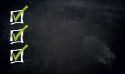 Checklist with Copyspace blackboard template.