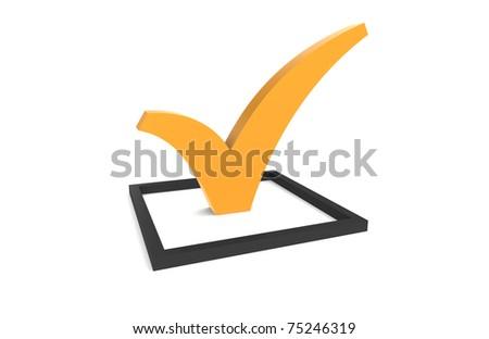 CheckMark. Orange CheckMark in Checkbox