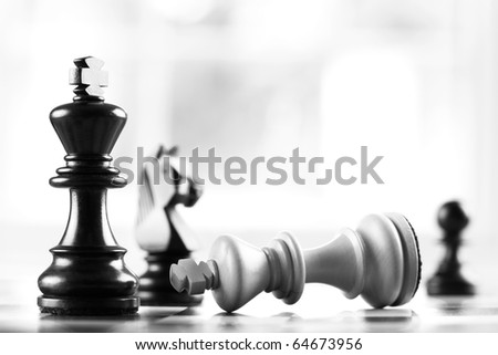 checkmate black defeats white king selective focus