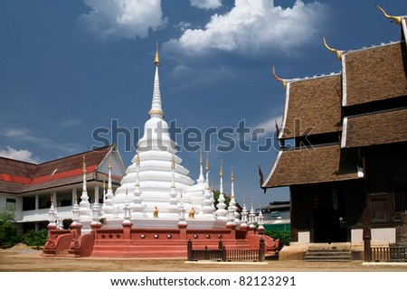 chedi of wat phantao in chiang mai