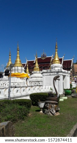 Chedi or Stupa of Lumpang Buddhist Temples which are located in the northern of Thailand. Stok fotoğraf ©