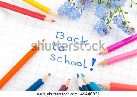 cheerful back to school with colors and flowers