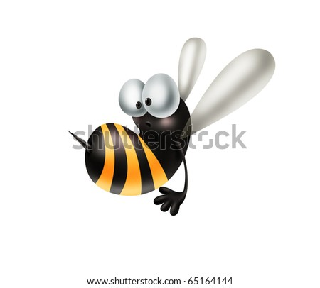 Cheerful bee