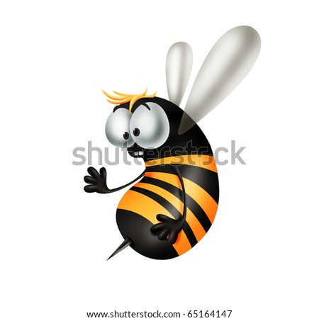 Cheerful bee