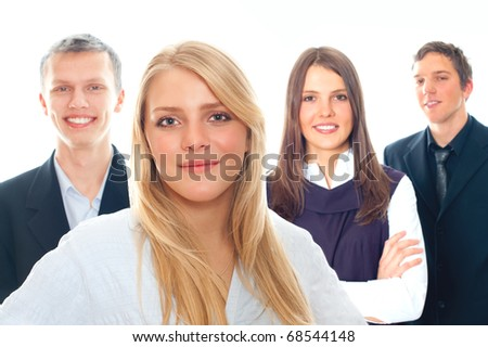 Cheerful business peoples