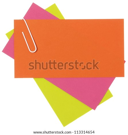 Cheerful color blank papers