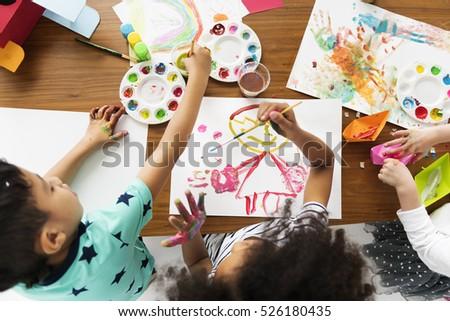 Cheerful Cute Kid Having Fun Concept #526180435