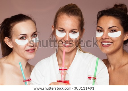 Cheerful girlfriend in a beauty salon . Spa treatments