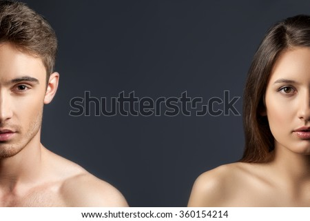 Cheerful loving couple is evincing their sexuality #360154214