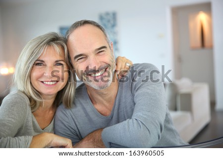 Cheerful senior couple enjoying life