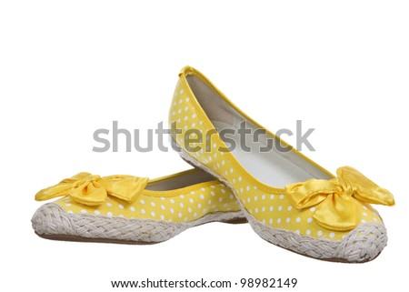 Cheerful summer shoes, isolated on white background.