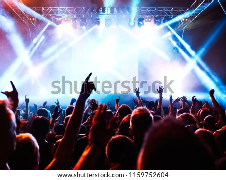 Cheering crowd at a rock concert #1159752604