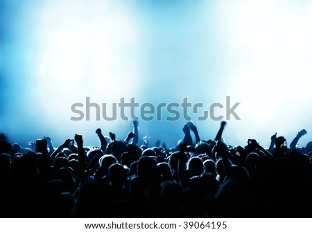 cheering crowd at concert #39064195