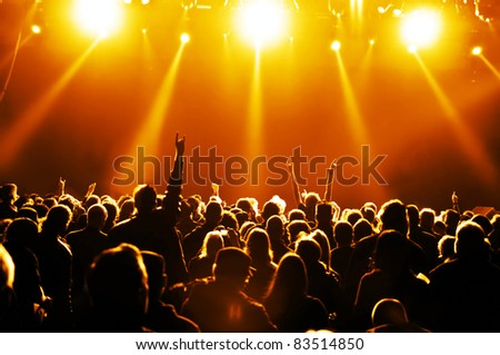 cheering crowd at concert #83514850