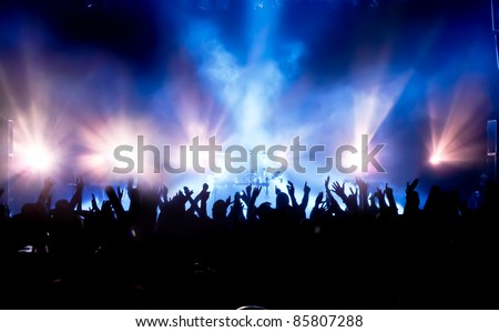cheering crowd at concert #85807288