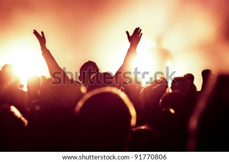 cheering crowd at concert #91770806