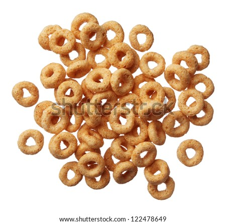 Cheerios cereal isolated on white background