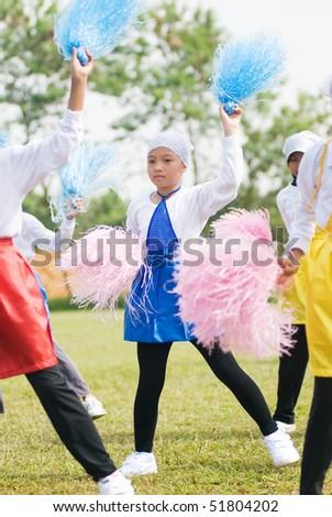 cheerleader in action