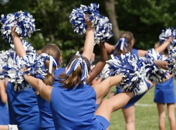 Cheerleaders Cheering at Game 1
