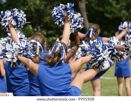 Cheerleaders Cheering at Game 1