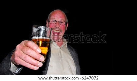 Red Cheeks Drinking Beer