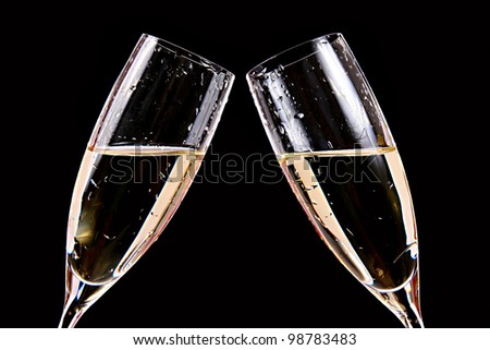 cheers - two champagne glasses
